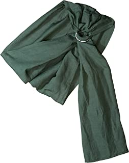 Ring Sling Baby Carrier - Extra Soft Bamboo and Linen eco-Friendly, Beautiful Fabric That is Designed to be Extra Soft, Rugged and Floppy After Machine Washed and Dried by Hip Baby Wrap (Forest)