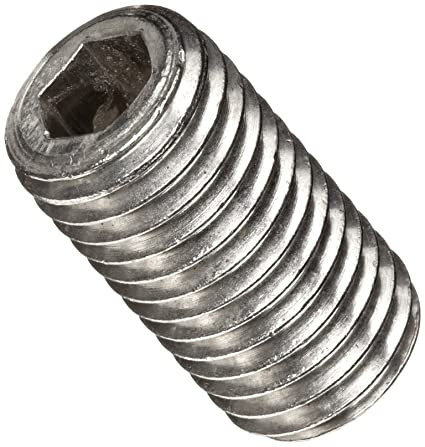 18-8 Stainless Steel Set Screw #8-32 UNC Threads 1//4 Length Hex Socket Drive Plain Finish Meets ASME B18.3//ASTM F880 Pack of 100 Imported 1//2 Dog Point