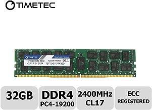 Timetec 32GB DDR4 2400MHz PC4-19200 Registered ECC 1.2V CL17 RDIMM Server Memory Module Upgrade (32GB)