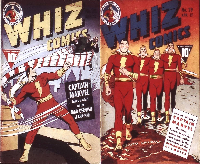 葉っぱを必要としていますショッキングWhiz Comics. Issues 28 and 29. Captain Marvel takes a whirl at the Mad Dervish of Ank-Har. Also includes adventures of the Pan-american Olympics. Golden ... superheroes and Heroines. (English Edition)