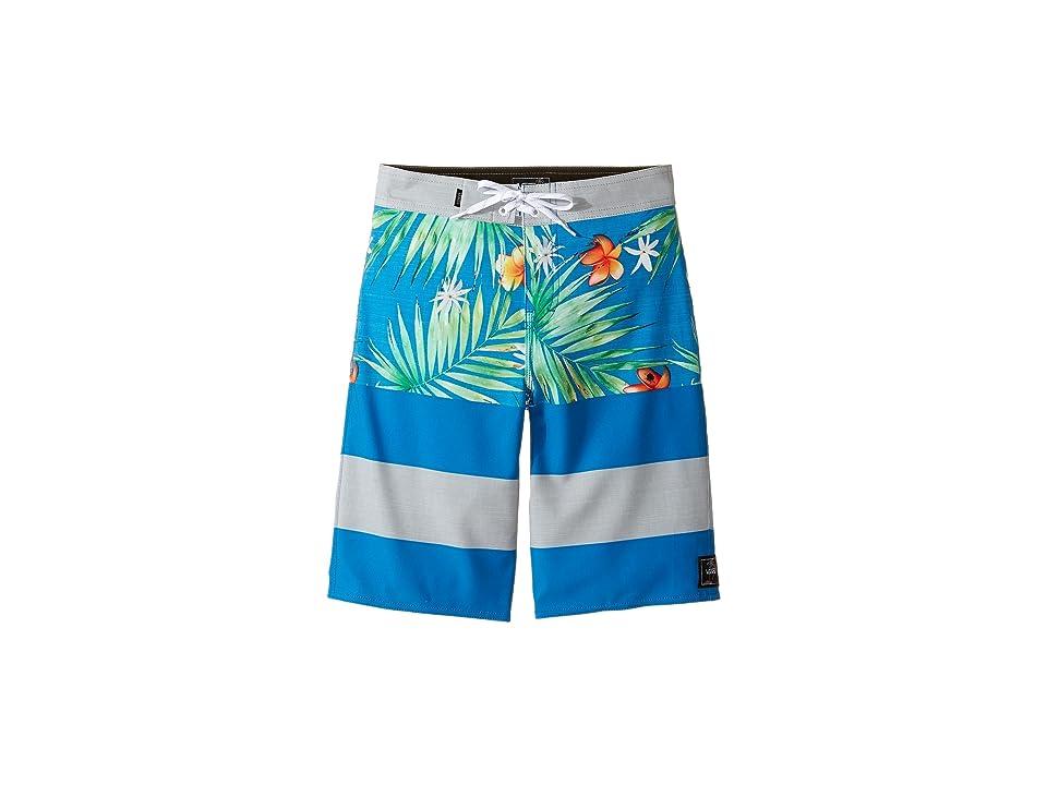 Vans Kids Era Stretch Boardshorts (Little Kids/Big Kids) (Imperial Blue Decay Palm) Boy