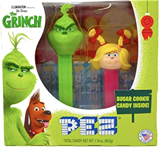 Pez Candy Grinch Twin Pack – Grinch and Mini Cindy Lou Dispensers with Sugar Cookie Candy Rolls and Tru Inertia Kazoo