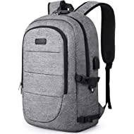 AMBOR Travel Laptop Backpack, 17.3 Inch Anti Theft Business Backpack with USB Charging Port and...