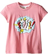 Fendi Kids - Short Sleeve T-Shirt w/ Logo Design on Front (Toddler)