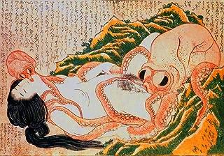 The Dream of the Fisherman's Wife POSTER A3 Katsushika Hokusai Shunga print Japanese wall art decal