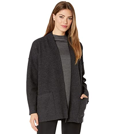 Eileen Fisher High Collar Jacket (Charcoal) Women