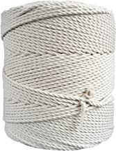 3mm Natural Cotton Cord 1345 feet Macrame Rope 448 yard DIY String Craft, Plant Hanger, Wall Hanger Rope (3mm x 410m (about 448 yd.))