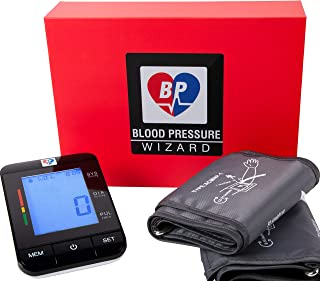 """2 Size Cuffs. Standard 8""""-16"""" & Extra Large Cuff 9""""-21"""" Automatic Blood Pressure Monitor Blood Pressure Machine. BP Wizard BP Machine. Most Accurate BP Monitor. Largest Cuff Available."""