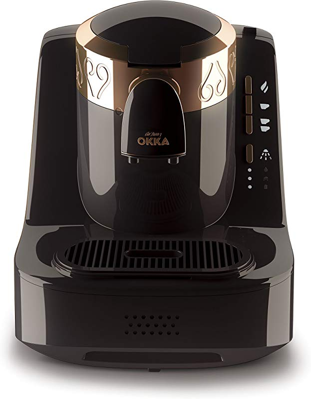 Arzum Okka Automatic Turkish Greek Coffee Machine USA 120V UL Black Copper