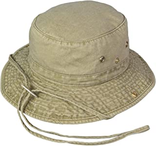 Washed Cotton Floater Hat with Chincord