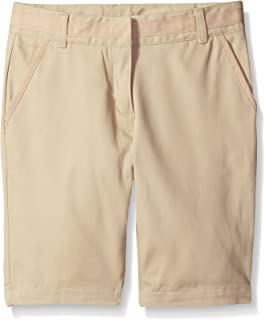 Girls' School Uniform Skinny Twill Bermuda Short