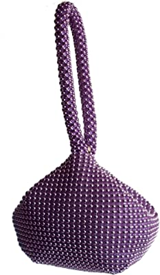 GFM® Damen die kleine weiche körpertasche aus aluminiumperlen. (BP-1) (Bp-jmn-11-violett)