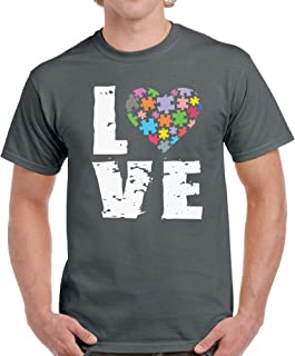 Vizor Men's Love Puzzle Autism Shirts Autism Awareness Shirts for Men