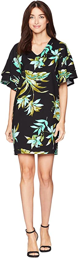 Print Ponte Shift Dress