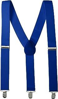Amscan Adjustable Metal Clip Accessory Suspenders, 1 piece, Blue