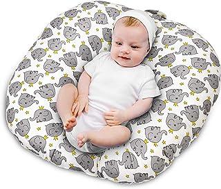 NiceTime Newborn Lounger,Baby Lounger and Portable Crib (Grey-Elephant)