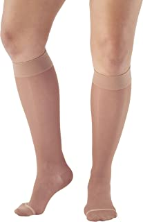 Ames Walker AW Style 16 Sheer Support 15 20mmHg CT Knee High Stockings LtNude MD
