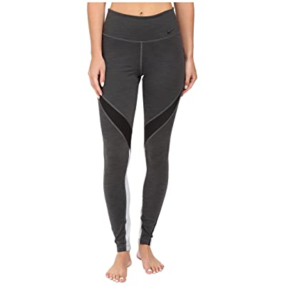 Nike Power Legend Twist Training Tight (Charcoal Heather/Black/Wolf Grey/Black) Women