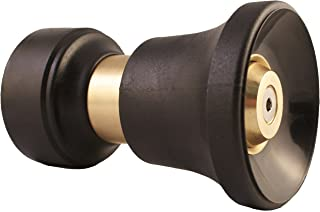 Heavy Duty Brass Fireman Style Hose Nozzle - Fits All Standard Garden Hoses - Best High Pressure Sprayer to Wash Your Car or Water Your Garden – Leak Proof - Lifetime No-Hassle Guarantee