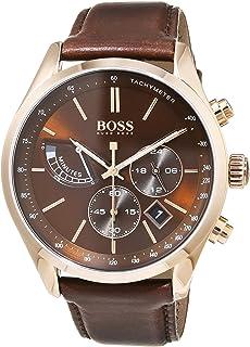 Hugo BOSS Reloj Cronógrafo para Hombre de Cuarzo con Correa en Cuero 1513605