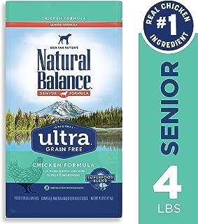 Natural Balance Original Ultra Dry Dog Food for Senior Dogs, Chicken, Grain Free