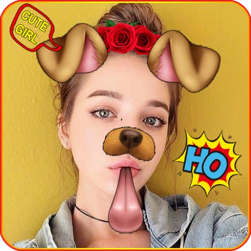Doggy Face Filter Snappy Photo - Snap Camera Photo Collage for Snapchat