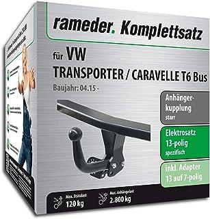 Rameder Komplettsatz, Anhängerkupplung starr + 13pol Elektrik für VW Transporter/CARAVELLE T6 Bus (149201 14350 1)