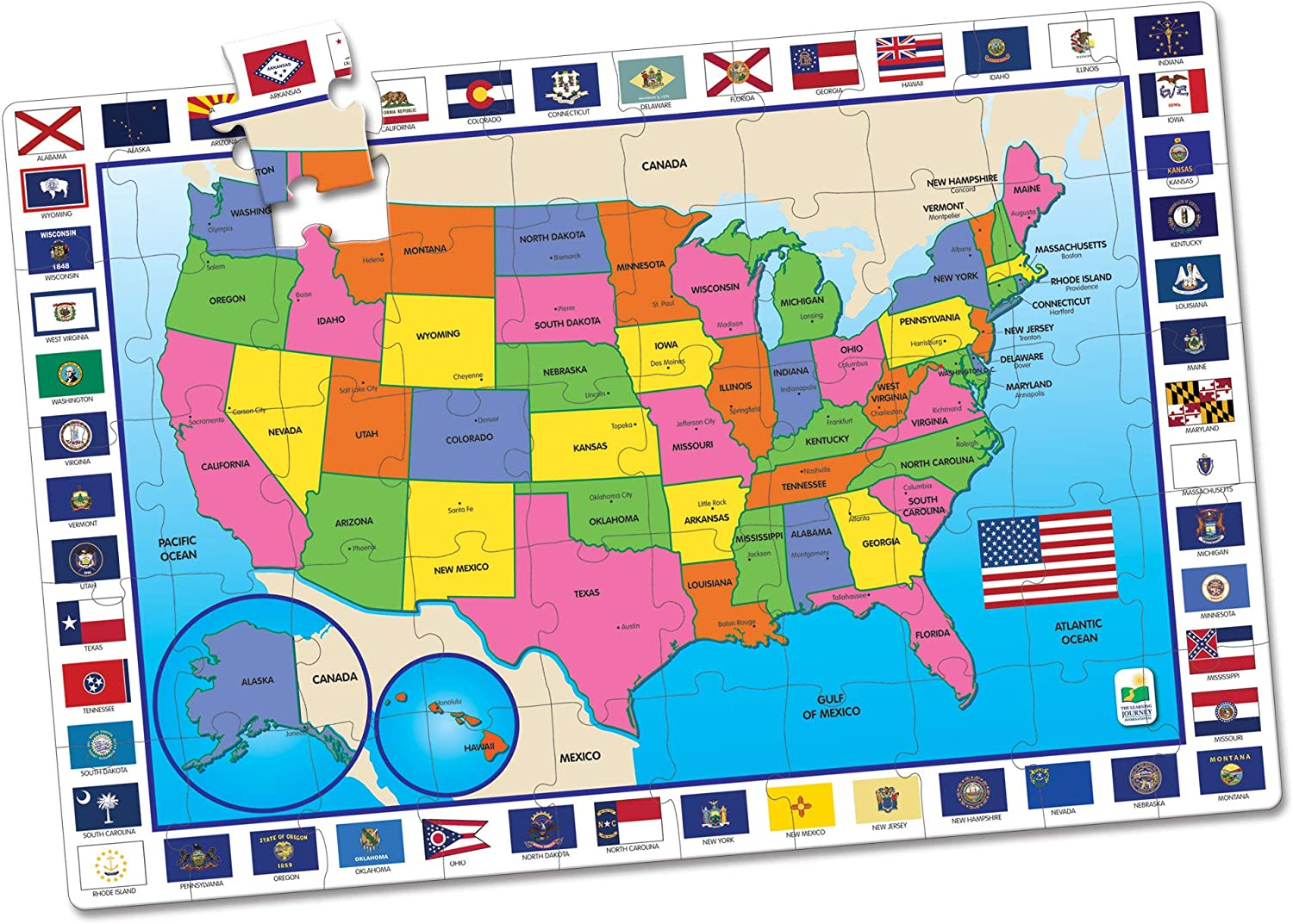 The Learning Journey: Jumbo Floor Puzzles USA Ranking integrated 4 years warranty 1st place Extra Larg Map -