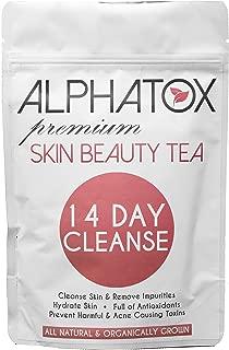 Alphatox 14 Day Premium Skin Beauty Tea Cycle   Full of Anti-oxidants, Prevents Acne, Toxin Removal   14 Herbal Tea Bags   Organic Tea