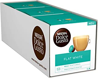 Nescafe Dolce Gusto Flat White Coffee Pods 16 Capsules (pack of 3-48 Capsules)