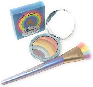 Too Faced Rainbow Strobe Highlighter and Strobing Brush Set