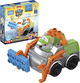 Mega Bloks PAW Patrol Rocky's City Recycling Truck with Mini Building Blocks, Building Toys Kids 3 Years & Older (11 Piece...