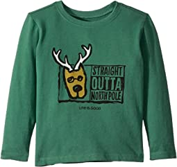 Straight Outta North Pole Crusher Long Sleeve T-Shirt (Toddler)