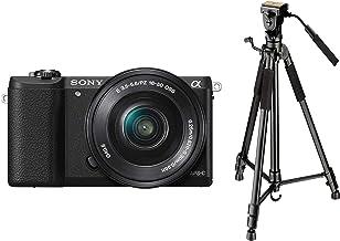 Sony Alpha ILCE5100L 24.3MP Digital SLR Camera (Black) with 16-50mm Lens, Bag & Digitek DTR 590 VD PRO Tripod (Black)