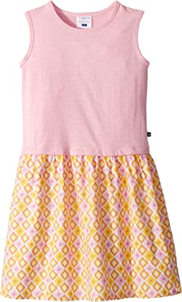 Toobydoo Pink Tank Dress w/ Summery Woven Skirt (Toddler/Little Kids/Big Kids)