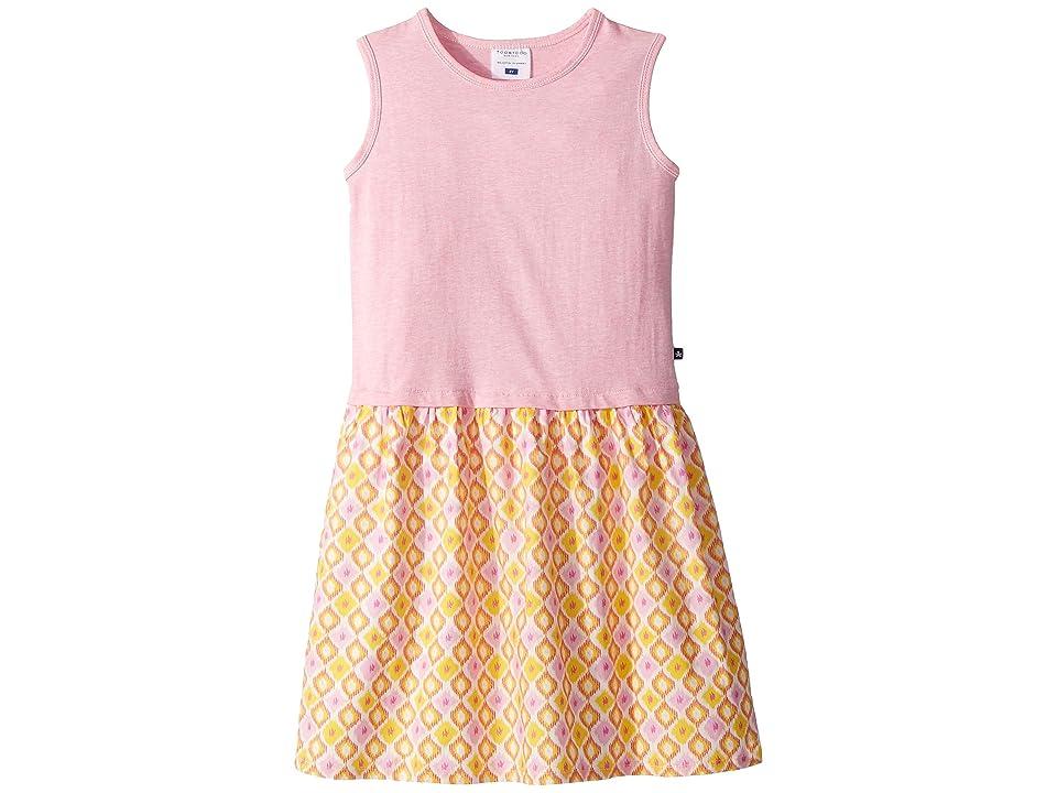 Toobydoo Pink Tank Dress w/ Summery Woven Skirt (Toddler/Little Kids/Big Kids) (Pink) Girl