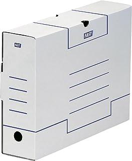 Fast Lot de 1200 Boîtes archives 10 cm Blanc/Bleu