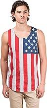 Brooklyn Surf Men's American Flag Jersey Tank Top Sleeveless Stars N Stripes Shirt
