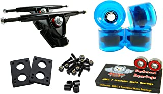 Longboard 180mm Trucks Combo w/70mm Wheels + Owlsome ABEC 7 Bearings