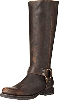 Frye Women's Veronica Harness Tall Knee High Boot, Black, 8