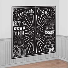 Amscan Grad Selfie Scene Setters Wall Decorating Kit | Party Favor, Multi Color, One Size