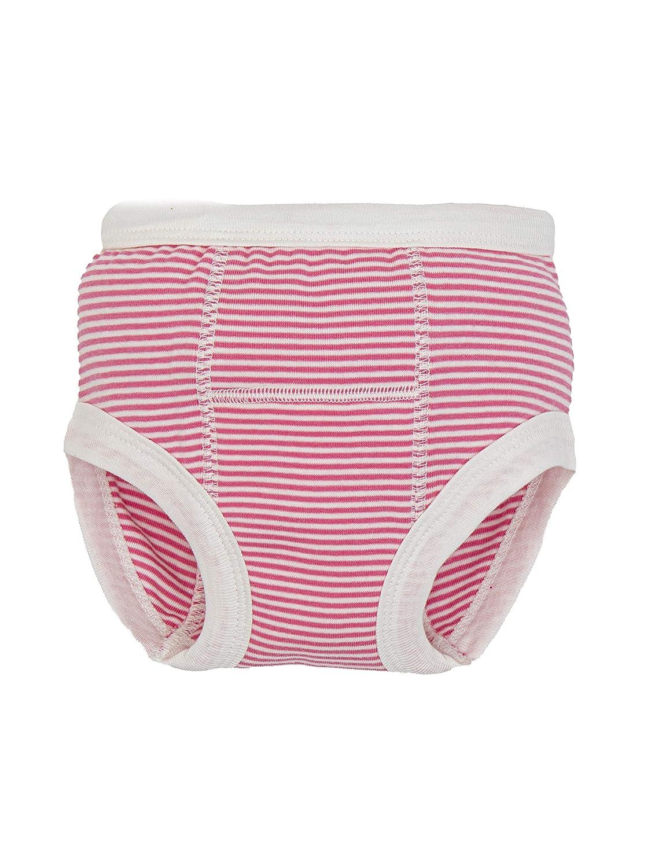Under The Nile Organic Cotton Light Pink Stripe Training Pants, Size 12-24 Months