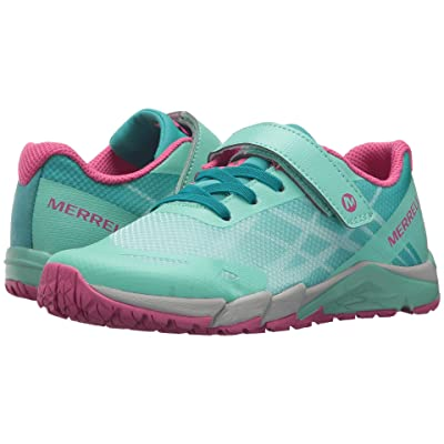 Merrell Kids Bare Access A/C (Little Kid) (Turquoise/Berry) Girls Shoes