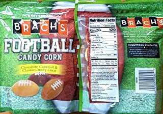 Football-Shaped Candy Corn - Chocolate, Caramel & Classic Candy Corn Flavors - Pack of 2 12 Oz Bags