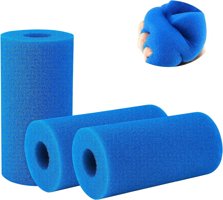 FayTun 3 Piezas de Esponja Tipo A para Filtro de Piscina, Cartucho de Filtro de Espuma Reutilizable Lavable, Herramienta más Limpia Compatible con reemplazo de Limpieza Tipo A