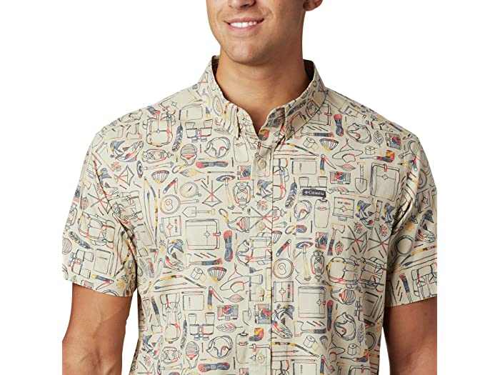 Columbia Rapid Rivers™ Printed Short Sleeve Shirt Fossil Camp Supplies Print Shirts & Tops