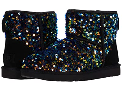 UGG Classic Mini Stellar Sequin (Black) Women