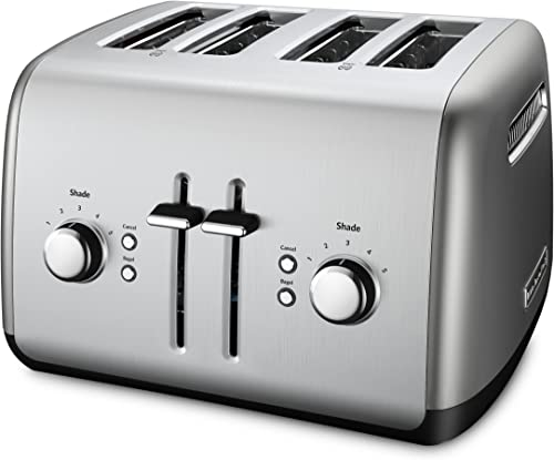 popular KitchenAid 4-Slice Toaster with Manual High-Lift Lever popular outlet online sale | Contour Silver (Renewed) outlet online sale