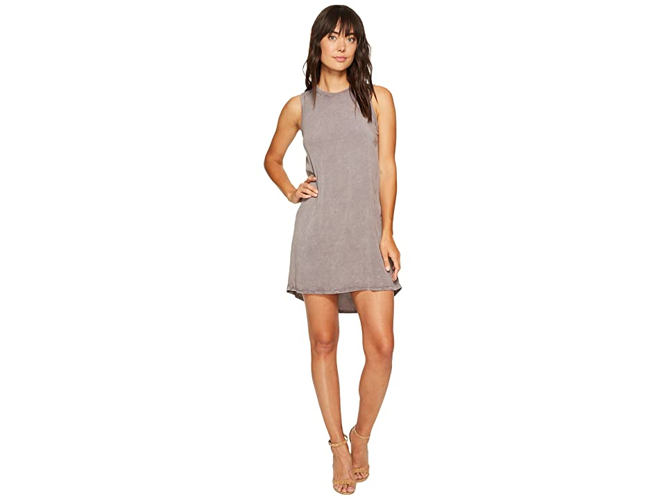 Allen Allen High-Low Tank Dress (Dark Grey) Women