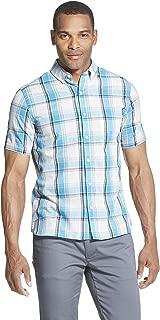 Men's Slim Fit Never Tuck Short Sleeve Button Down Shirt